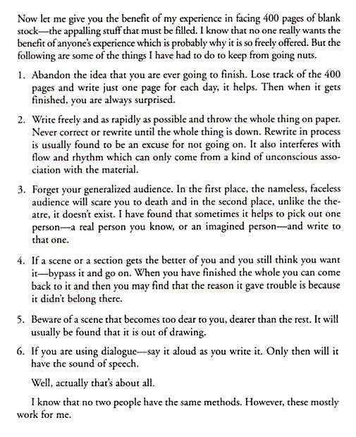 John Steinbeck's advice to writers